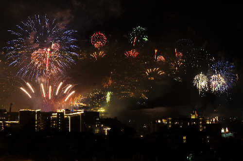 Funchal, Madeira  celebrates New year