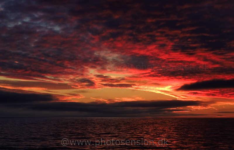 Solnedgang i Sydatlanten